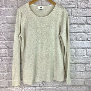 Old Navy Women's Size L Sweater Rolled Neck Ivory